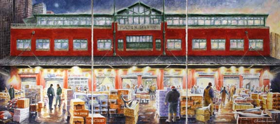 Triptych of the Fish Market